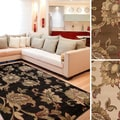 Meticulously Woven Cobb Floral Polypropylene Area Rug (5'3 x 7'6)