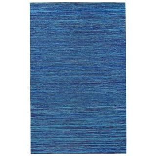 Recycled Sari Silk Blue Rug (4' x 6')