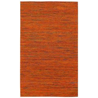 Recycled Sari Silk Orange Rug (4' x 6')