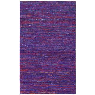 Recycled Sari Silk Purple Rug (5' x 8')