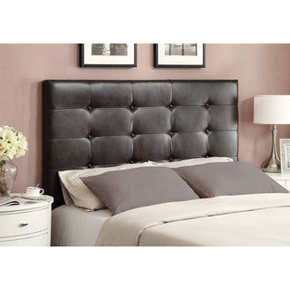 Tufted Upholstered Bomber Brown Queen Headboard