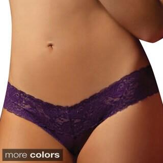 Seven Til Midnight Women's Lace Mesh Thong