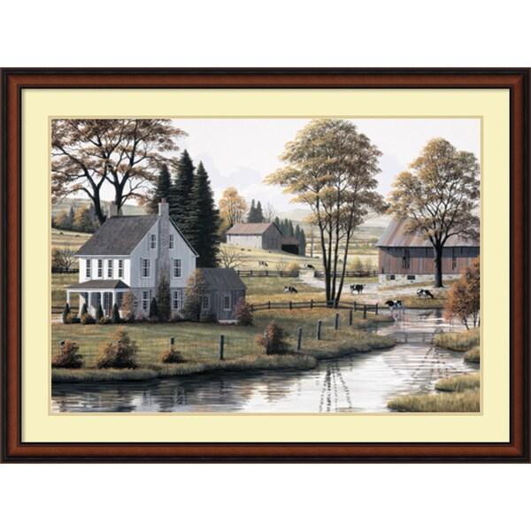 Bill Saunders 'Autumn Grazing' Framed Art Print 43 x 32-inch