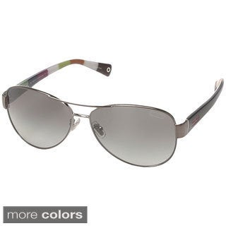 Coach Women's 'L012 Kristina HC7003' Metal Aviator Sunglasses