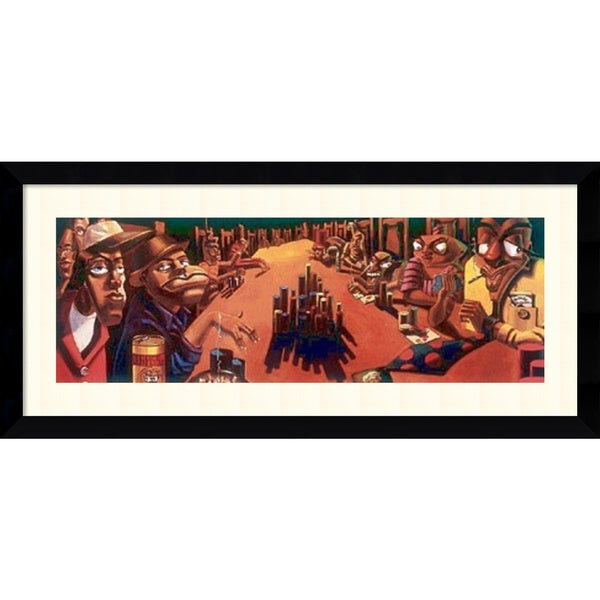 Justin Bua 'The Poker Game' Framed Art Print 43 x 20-inch
