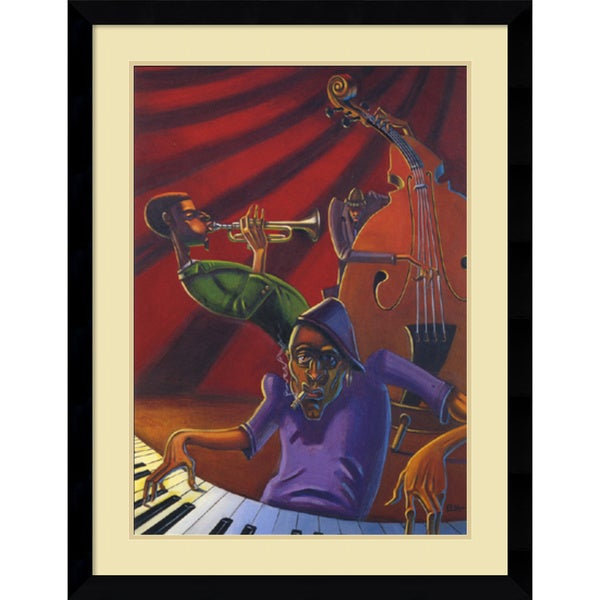 Justin Bua 'Jazz Trio' Framed Art Print