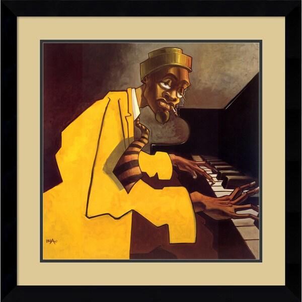 Justin Bua 'Piano Man' Framed Art Print 30 x 30-inch