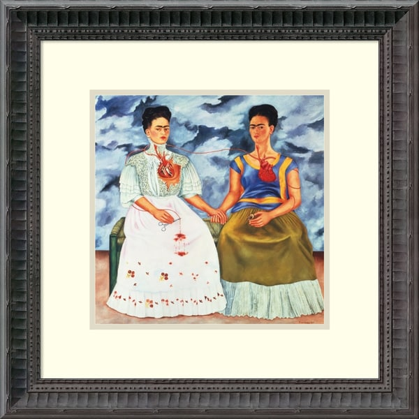 Frida Kahlo 'The Two Fridas, 1939' Framed Art Print 14 x 14-inch