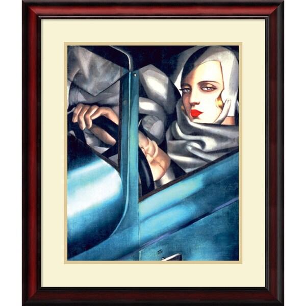 Tamara de Lempicka 'Autoportrait' Framed Art Print