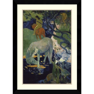 Paul Gauguin 'The White Horse (Le Cheval Blanc), 1898' Framed Art Print 26 x 35-inch