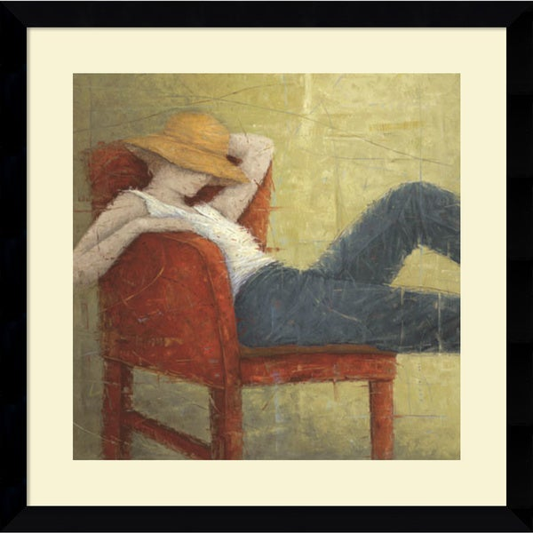 Erica Hopper 'Second Thoughts' Framed Art Print 33 x 33-inch