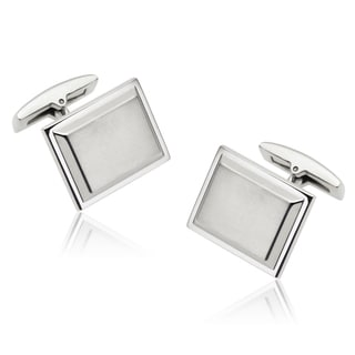 Vance Co. Men's Stainless Steel Tapered Rectangle Cuff Links
