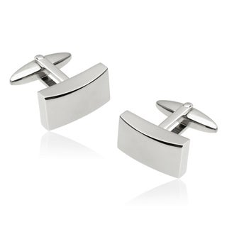 Vance Co. Men's Stainless Steel Rectangular Cuff Links