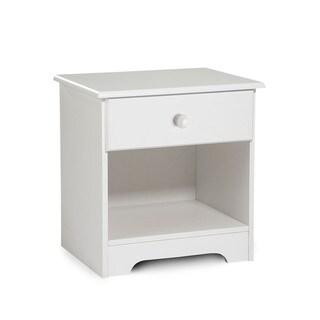 Classic White 1-drawer Nightstand