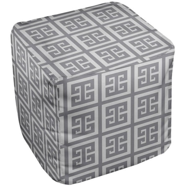 13 x 13 -inch Geometric Decorative Pouf