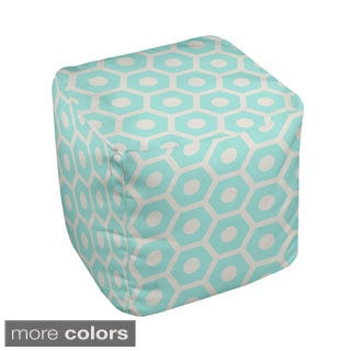 18 x 18 -inch Two-tone Honeycomb Print Decorative Pouf