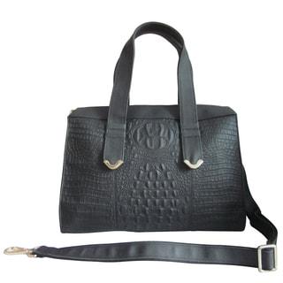 Amerileather Leather Embossed Shoulder Bag