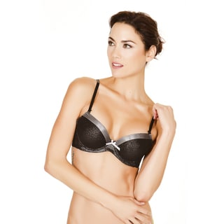 Black Fuchsia Women's Shimmer 3-D Push-up Padded Bra