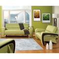 Furniture of America Perthan Modern Green 2-Piece Loveseat and Sofa Set