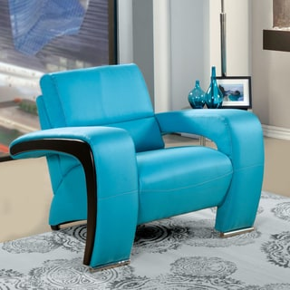 Furniture of America Perthan Modern Blue Chair