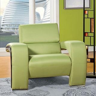 Furniture of America Perthan Modern Green Chair