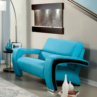 Furniture of America Perthan Modern Blue Loveseat
