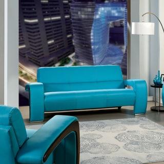 Furniture of America Perthan Modern Blue Sofa