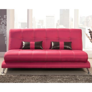 Furniture of America Eissa Modern Fuchsia Sofa