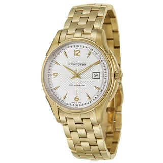 Hamilton Men's 'Jazzmaster Viewmatic' Stainless Steel Yellow Goldplated Swiss Mechanical Automatic Watch