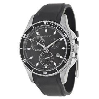 Hamilton Men's 'Jazzmaster Seaview Chrono' Stainless Steel Chronograph Watch