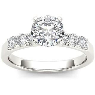De Couer 14k White Gold 1 1/2ct TDW Diamond Engagement Ring (H-I, I1-I2)