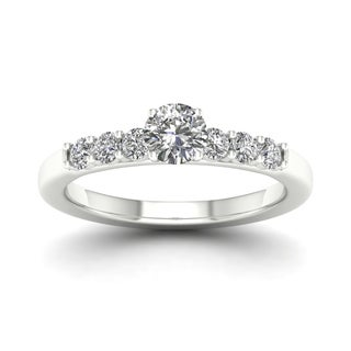 De Couer 14k White Gold 1ct TDW Diamond Classic Engagement Ring (H-I, I1-I2)
