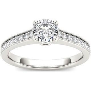 De Couer 14k White Gold 1 1/5ct TDW Diamond Engagement Ring (H-I, I1-I2)