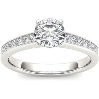 De Couer 14k White Gold 1 1/4ct TDW Diamond Engagement Ring (H-I, I1-I2)