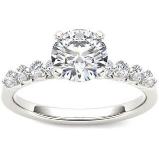 De Couer 14k White Gold 3/4ct TDW Diamond Engagement Ring (H-I, I1-I2)
