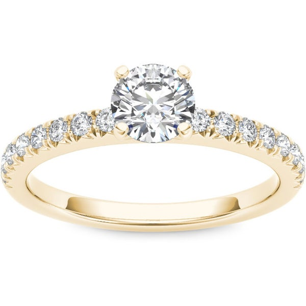 De Couer 14k Yellow Gold 3/4ct TDW Diamond Engagement Ring (H-I, I1-I2)
