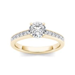 De Couer 14k Yellow Gold 1 1/4ct TDW Diamond Engagement Ring (H-I, I1-I2)