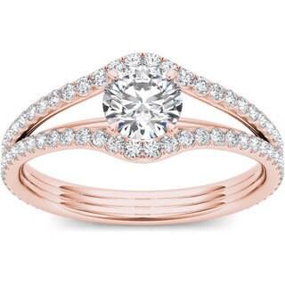 De Couer 14k Rose Gold 1 1/4ct TDW Diamond Ring (H-I, I2)
