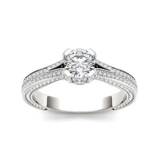 De Couer 14k White Gold 1 1/2ct TDW Diamond Engagement Ring (H-I, I2)
