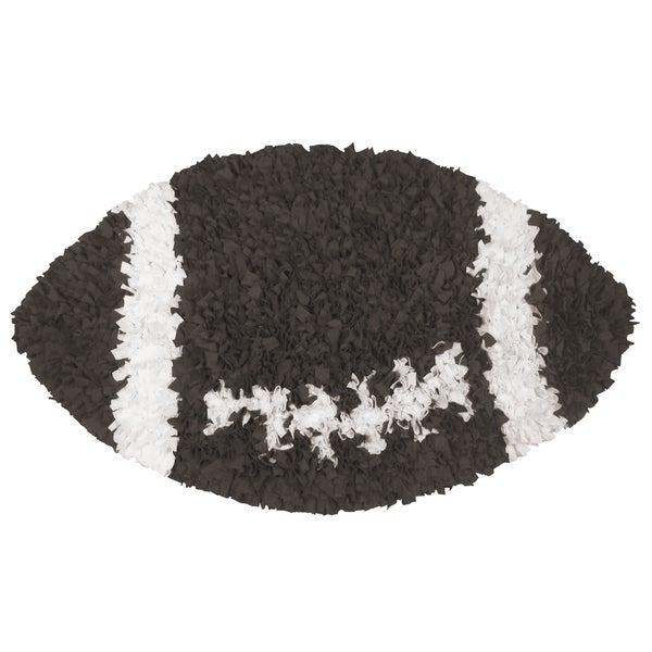 Shaggy Raggy Football Rug (3' x 3')