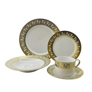 Golden Rim Designer-inspired 40-piece Dinnerware Set