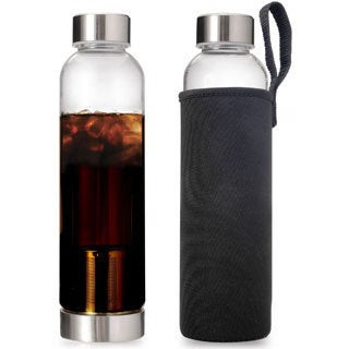 Epoca Primula 'Cold Brew on the Go' 20-ounce Filtered Bottle and Neoprene Sleeve
