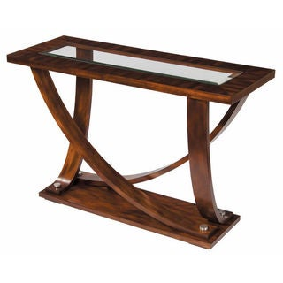 Central Park Bent-leg and Beveled Glass Sofa Table