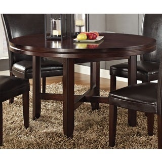 Hampton Dark Brown Cherry 52-inch Round Dining Table