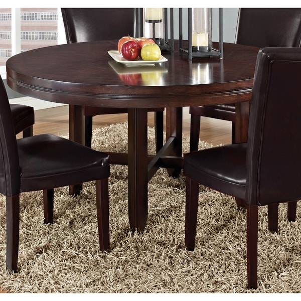 Greyson Living Hampton Dark Brown Cherry 62 Inch Round Dining Table