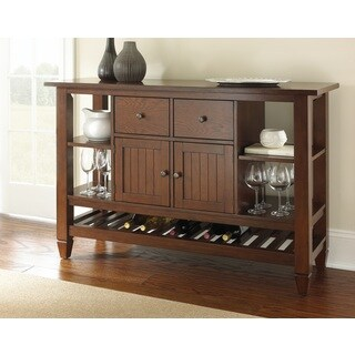 Blake Burnished Medium Oak Server with Wine Storage