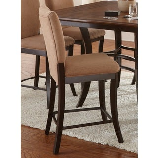 Dennison Dark Brown Upholstered Counter-height Chairs (Set of 2)