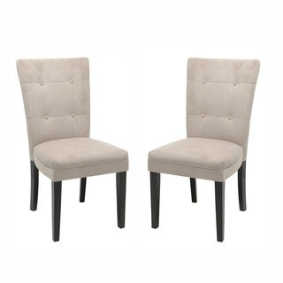 Monoco Microsuede Dining Chairs (Set of 2)
