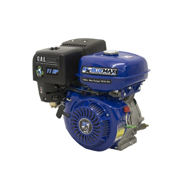 Blue Max 11 HP 4-stroke Gas Powered 340 CC Horizontal Shaft Engine