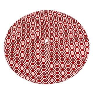 Nichole Lipstick 53-inch Round Lined Tree Skirt